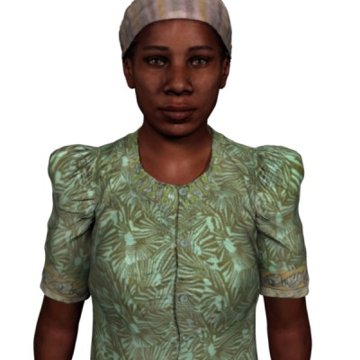 Female African 3D character