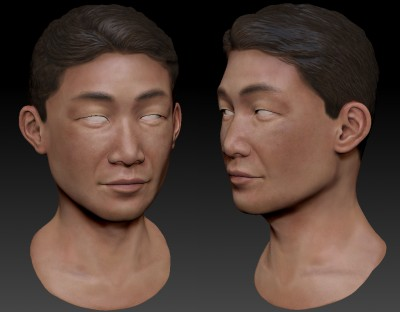 Male Taiwanese 3D character head