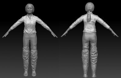 Female Southeast Asian 3D character (flood outfit)