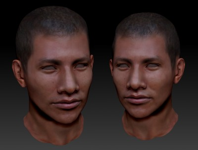 Male South American 3D character head