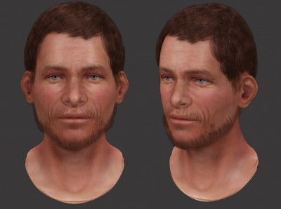 Male Central Asian 3D character head