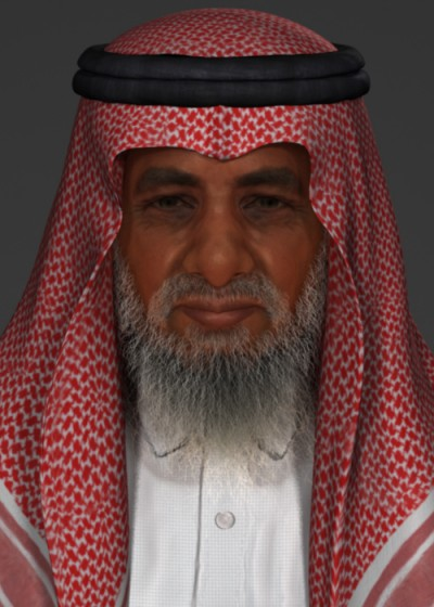Male Arab 3D character head