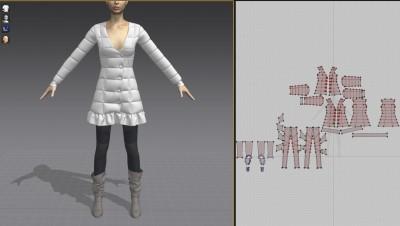 3D Moncler puffer jacket