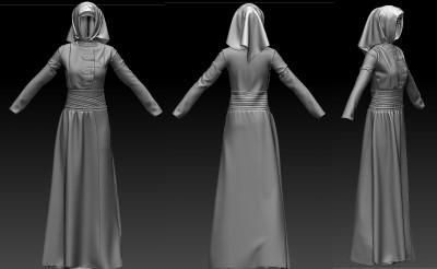 3D Muslim Turkish long coat outfit