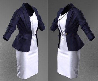 3D Single Duchess blazer & Roksanda Ilincic dress