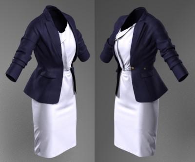 3D Single Duchess blazer & Roksanda Ilincic dress