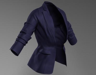 3D Single Duchess blazer