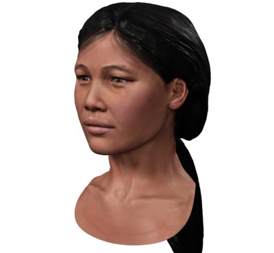 Female Southeast Asian 3D character head