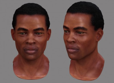 Male African 3D character head