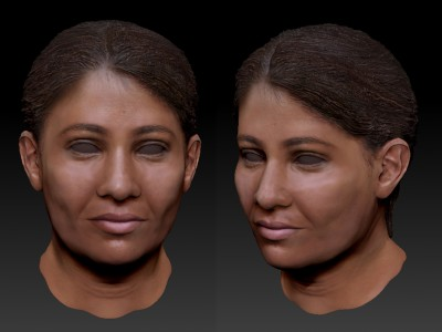 Female Central American 3D character head