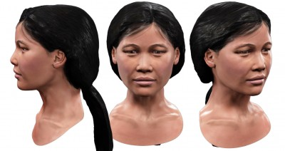 Female Southeast Asian 3D character head