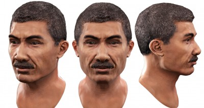 Male Southeast Asian 3D character head
