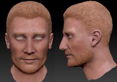 Male Australian 3D character head
