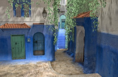 Moroccan side street 3D environment