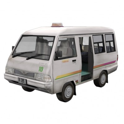 3D Timorese Mikrolet vehicle