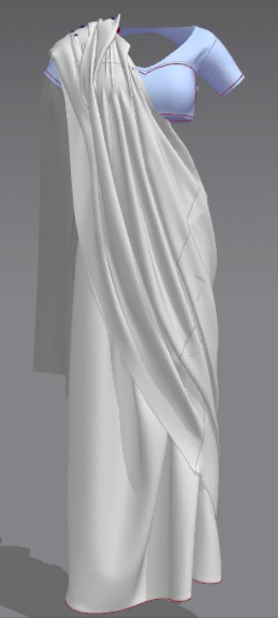 3D saree
