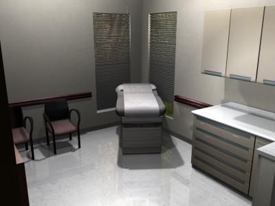 3D clinic exam room environment