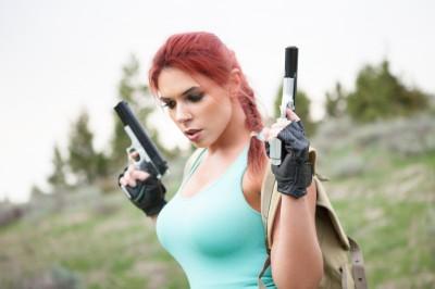 Lara Croft cosplay (Tomb Raider III)