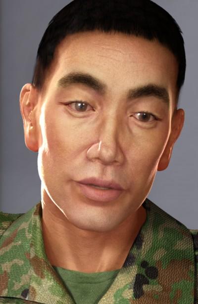 Japanese male head