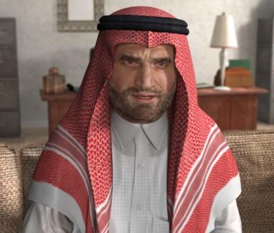 Male Arab 3D character