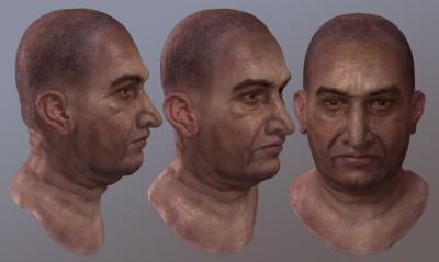 Male Pakistani 3D character head