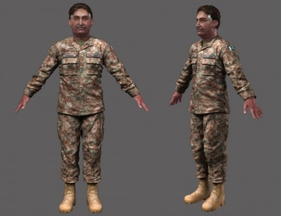 Male Pakistani 3D character