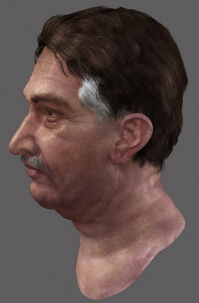 Male Pakistani 3D character head