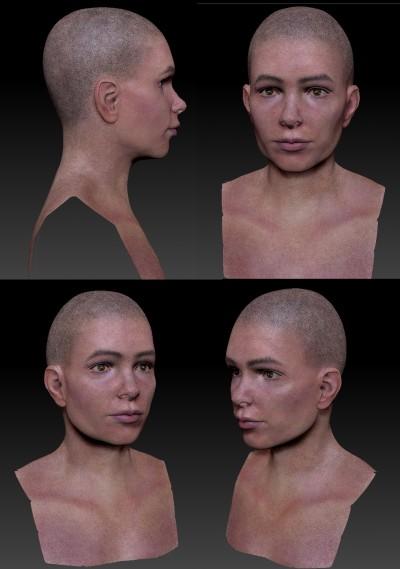 Female head in progress