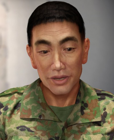 Japanese male soldier