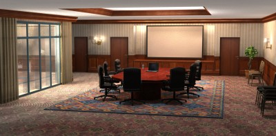 3D hotel conference room environment