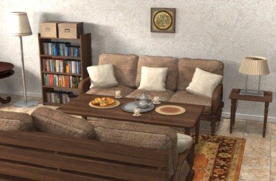 3D home office environment