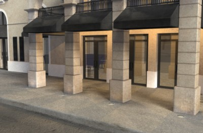 3D hotel front environment