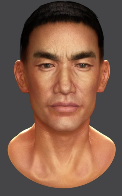 Japanese male head (angry)