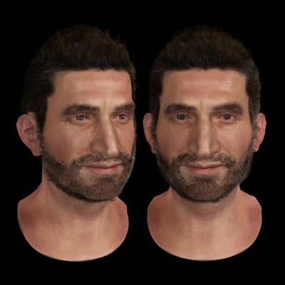 Male Arab 3D character head