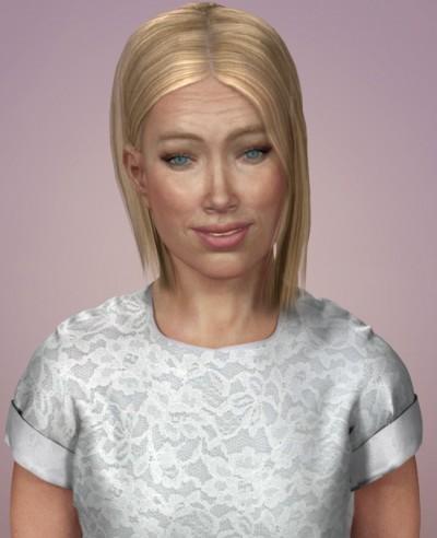 Blonde American woman