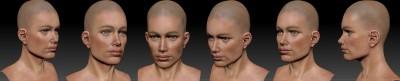American female head